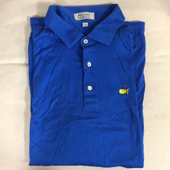 d6af5129 Men's Masters Official Golf Polo Blue Peter Millar.  M_5bd8f5c504e33de7c6625cd2